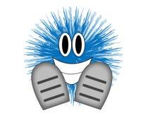 Individuo azul Imagenes de archivo