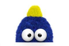Individuo azul divertido de la piel Imagenes de archivo