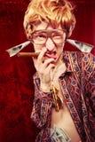 Individuo bling bling enojado Fotografía de archivo