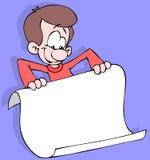 Individuo con un cartel stock de ilustración