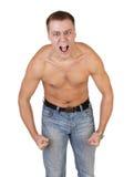 individuo con un torso descubierto Fotografía de archivo