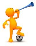 individuo 3d: Soplar un Vuvuzela Fotografía de archivo libre de regalías