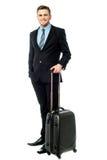 Individuo de Corpoprate fijado todo para el viaje de negocios Fotografía de archivo libre de regalías