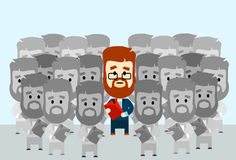 Individuo de la muchedumbre de Stand Out From del líder del hombre de negocios Imagen de archivo