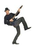 Individuo de la roca que toca la guitarra Imagenes de archivo