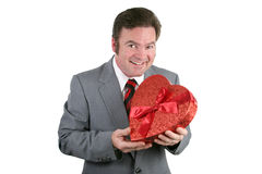 Individuo de la tarjeta del día de San Valentín con el caramelo Foto de archivo libre de regalías