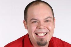 Individuo de risa de la barba Fotos de archivo