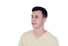 Individuo del adolescente con la camiseta amarilla Imagen de archivo libre de regalías