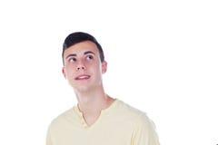 Individuo del adolescente con la camiseta amarilla Fotos de archivo libres de regalías