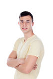 Individuo del adolescente con la camiseta amarilla Fotos de archivo