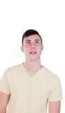 Individuo del adolescente con la camiseta amarilla Imagenes de archivo
