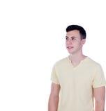 Individuo del adolescente con la camiseta amarilla Foto de archivo libre de regalías