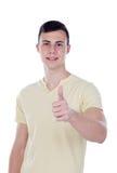 Individuo del adolescente que dice muy bien Foto de archivo