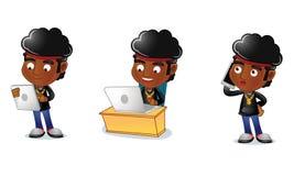 Individuo 3 del Afro Imagen de archivo libre de regalías