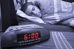 Individuo del reloj de alarma Imagen de archivo libre de regalías