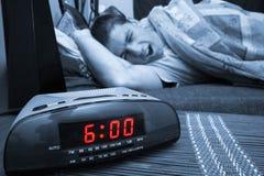 Individuo del reloj de alarma Imágenes de archivo libres de regalías