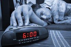 Individuo del reloj de alarma Foto de archivo libre de regalías