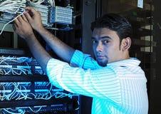 Individuo del sistema IT fotografía de archivo