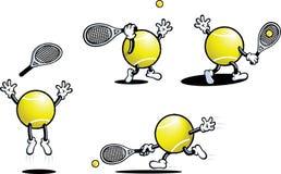 Individuo del tenis Fotografía de archivo