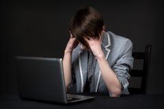 Individuo deprimido Fotos de archivo libres de regalías