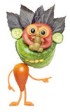Individuo divertido hecho de verduras Imágenes de archivo libres de regalías