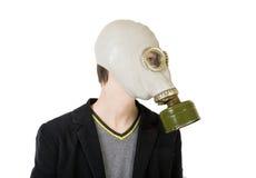 Individuo en careta antigás Imagen de archivo libre de regalías