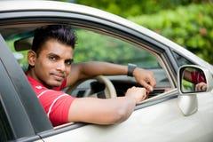 Individuo en coche Imagen de archivo libre de regalías