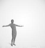individuo en el traje del cuerpo del morphsuit que mira el espacio vacío de la copia Imagen de archivo libre de regalías