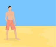 Individuo en la playa fotografía de archivo libre de regalías