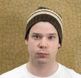 Individuo en un sombrero del Knit Fotografía de archivo libre de regalías