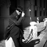 Individuo fresco en equipo del detective del vintage Fotos de archivo