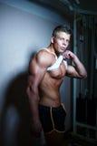Individuo hermoso Bodybuilder Imágenes de archivo libres de regalías