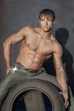 Individuo muscular Foto de archivo