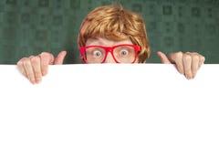 Individuo nerdy divertido Imágenes de archivo libres de regalías
