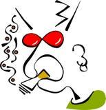 Individuo que fuma Foto de archivo