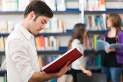 Individuo que lee un libro Fotografía de archivo libre de regalías