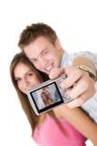 Individuo que toma un cuadro Fotos de archivo libres de regalías