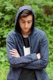 Individuo serio del adolescente Fotografía de archivo
