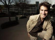 Individuo sonriente hermoso Foto de archivo libre de regalías