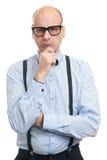 Individuo travieso con las ligas y la corbata de lazo Imagenes de archivo
