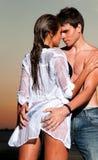 Individuo y su novia Imagen de archivo libre de regalías