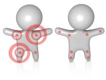 Individuos 3d del dolor Imagen de archivo libre de regalías