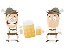 Individuos bávaros que comparan su cerveza Fotografía de archivo libre de regalías