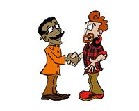 Individuos del apretón de manos dos - Raj y marca libre illustration
