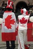 Individuos del día de Canadá Imagenes de archivo