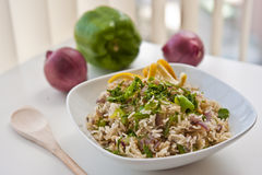 Indo-chinese styled rice. Fried rice in the style of indian chinese Stock Photography