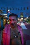 Indo-fijian man visit at Sri Siva Subramaniya Hindu temple in Na Royalty Free Stock Image