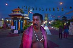 Indo-fijian man visit at Sri Siva Subramaniya Hindu temple in Na Stock Photo