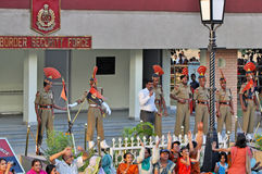 Indo-Pakistan Border stock image
