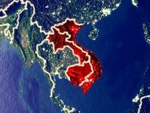 Indochina na terra na noite fotografia de stock